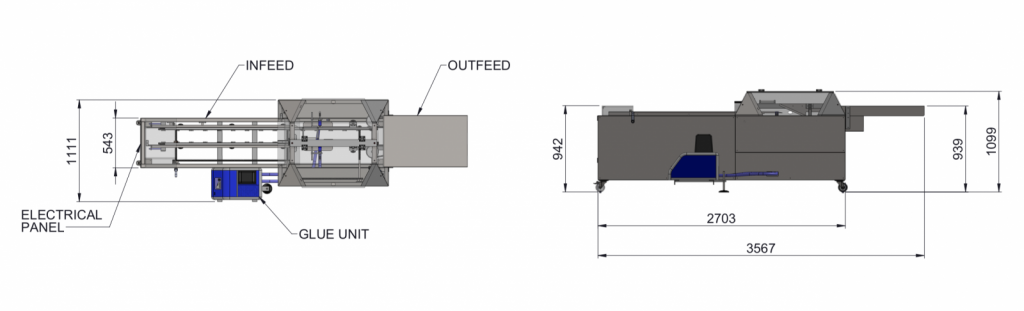 Continuous Two Flap Sealer Diagram