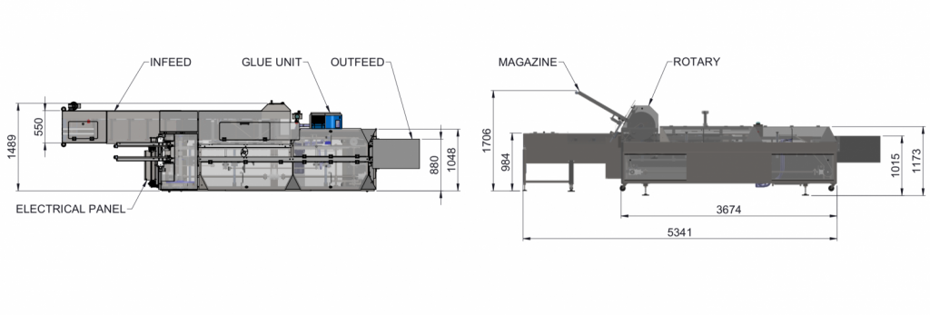 Fully Automatic End Load Cartoner Diagram