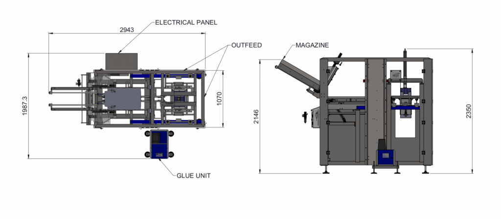 Top Load Carton Erector Diagram