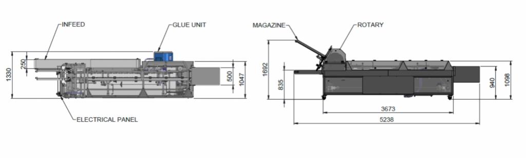Semi Automatic End Load Cartoner Diagram